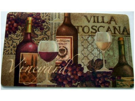 Wine Kitchen Rugs Tuscan Wine Grapes Kitchen Rug Cushion Mat