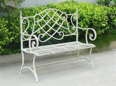 outside metal benches gorgeous metal outdoor bench with white color home