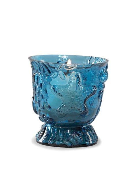 Glass And Sea Cookie Votive Sea Blue Shells Glass Votive Holder 4 Quot