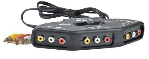 Switch Av 3 ports audio av switch audio 3in1 input