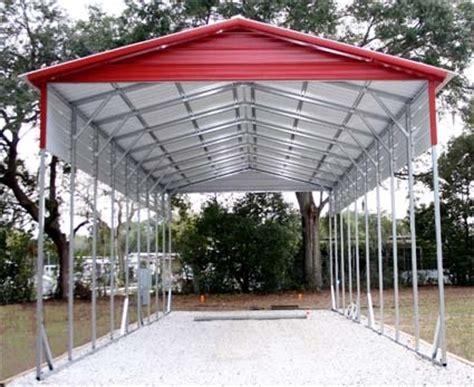 Aluminum Carport Installation 18 X 41 X 12 Vertical Roof Eco Friendly Steel Carport