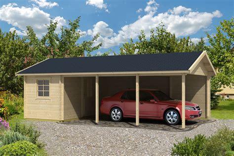 Carport Cabin log cabin carport
