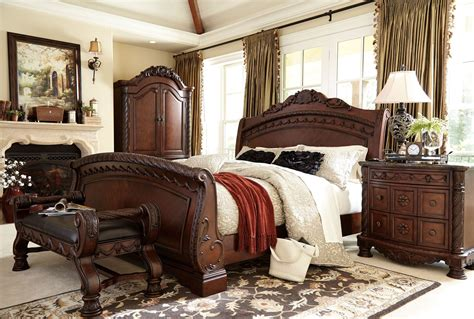 california king sleigh bedroom set north shore cal king sleigh bed from ashley b553 78 76 73