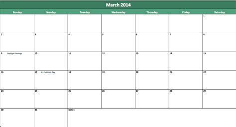 2014 calendar template for word march 2015 calendar template
