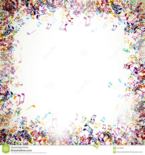 free mudic colorful music notes border www pixshark com images