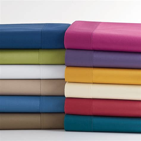 bed sheet thread count 300 thread count wrinkle free sateen bedding the company