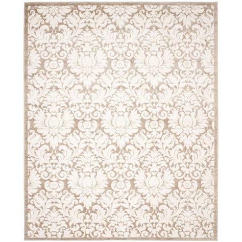 8 x 10 indoor outdoor rug safavieh amherst wheat beige 8 ft x 10 ft indoor outdoor area rug amt427s 8 the home depot
