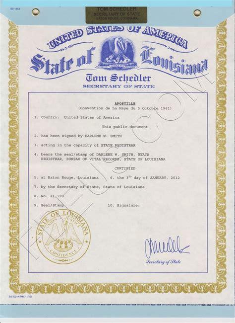 Apostille Marriage Certificate San Diego