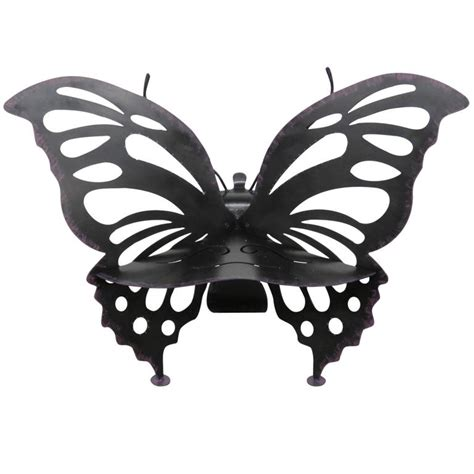 wrought iron butterfly bench painted iron butterfly bench for sale at 1stdibs