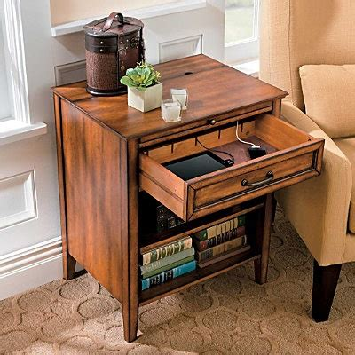 side table with charging station for the home