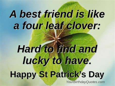 st s day hilarious quotes four leaf clovers friends yourbirthdayquotes