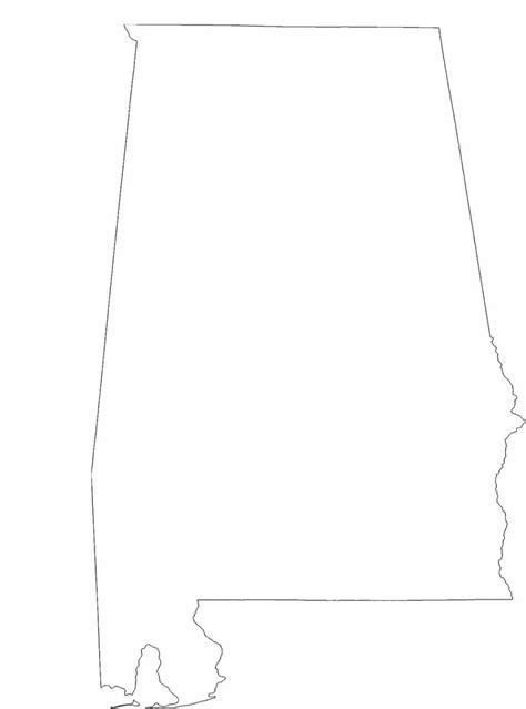 alabama map outline alabama state outline map free