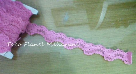 Renda Elastis Kecil Hotpink 1 maharani craft produsen aneka souvenir handmade dari kain flanel tutorial baby flower