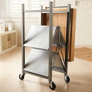 Improvement electrical origami folding kitchen island cart steel