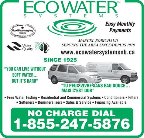 ecowater systems haute aboujagane nb 537 route 933
