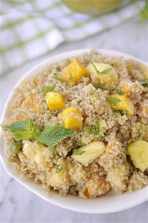 Simply7 Quinoa Salt Vinegr quinoa salad with mango pineapple mint your homebased
