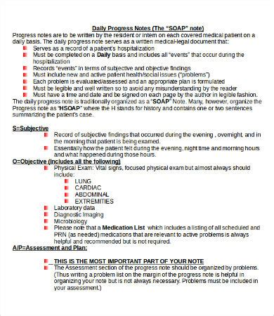 Soap Note Template 10 Free Word Pdf Documents Download Free Premium Templates Soap Progress Notes Template