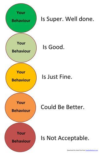 traffic light cards template behaviour traffic light grid by bigbill teaching