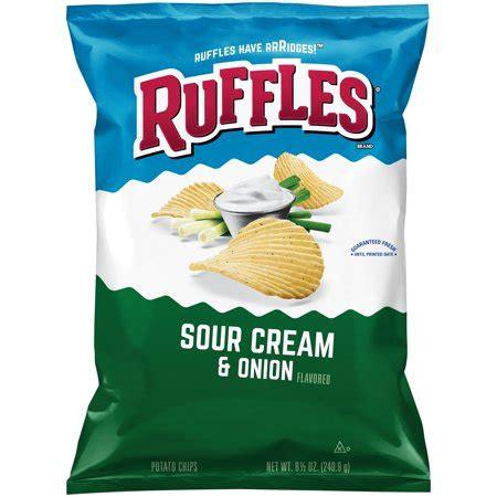 ruffles sour cream & onion potato chips, 8.5 oz bag