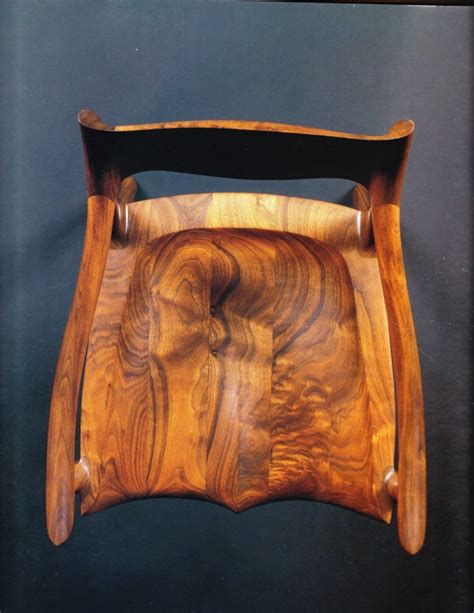 maloof woodworking low back sculptured chair by sam maloof the energy of