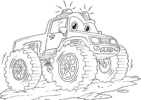 kidscolouringpages orgprint amp download lightning mcqueen monster truck coloring pages