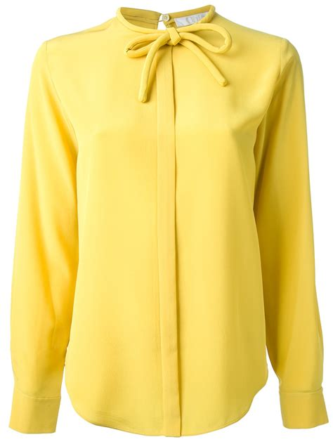 Yell O Blouse chlo 233 bow blouse in yellow lyst