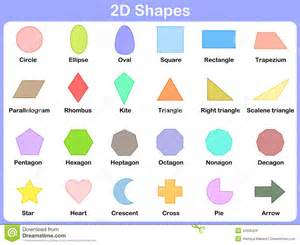 learning the 2d shapes for kids stock vector image 42909429