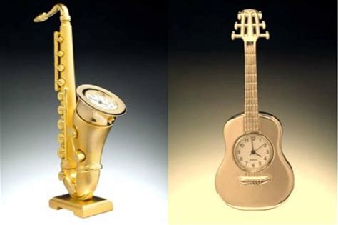 musical themes cannot represent real brass music theme mini clocks on sale tuba saxaphone