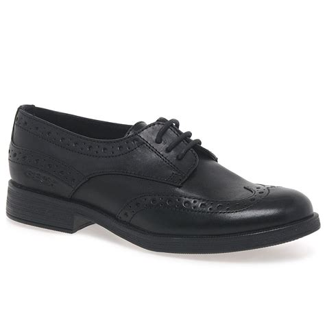 senior school shoes geox agata lace black leather school shoes charles