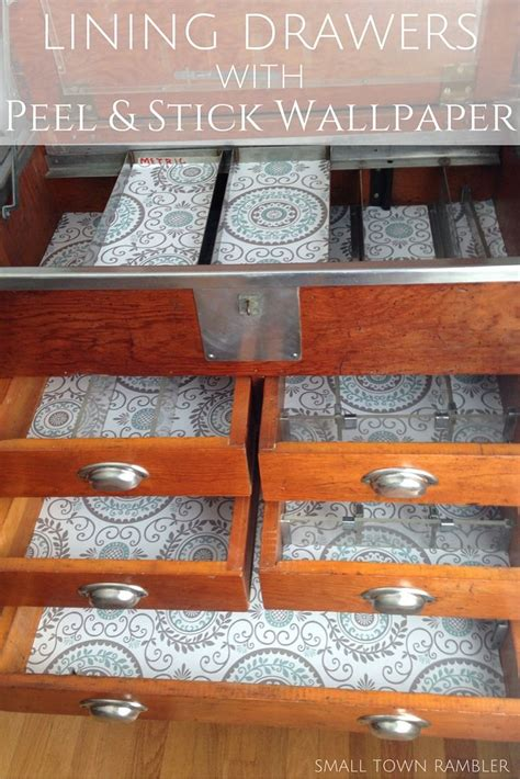 Decorating A Chest Of Drawers With Wallpaper