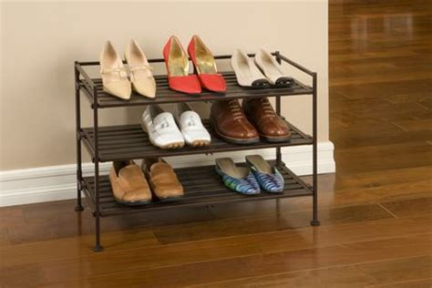 seville classics 3 tier resin wood shoe rack walmart canada