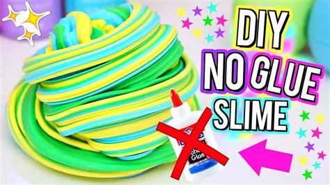 diy fluffy slime  glue      slime   glue youtube