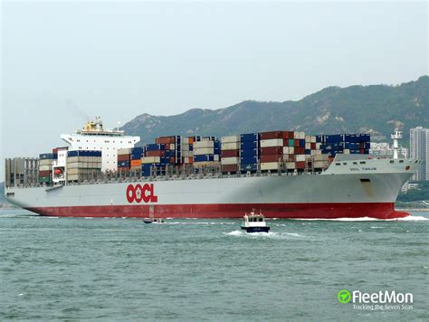 oocl to schedule oocl tianjin container ship imo 9285471