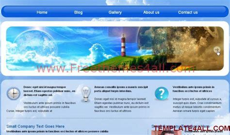 free jquery website templates for business free jquery blue business css template freethemes4all