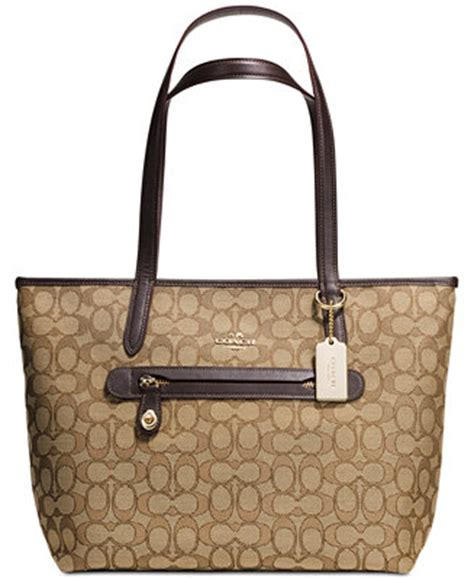 Coach Bag Macys by Coach Tote In Signature Jacquard Handbags Accessories Macy S