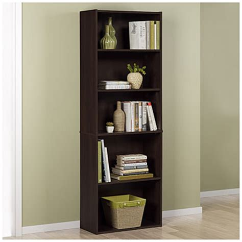 ameriwood russet 5 shelf bookcase big lots