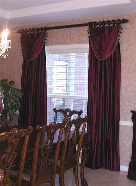 Elegant Drapes For Dining Room | living room family room and den photos