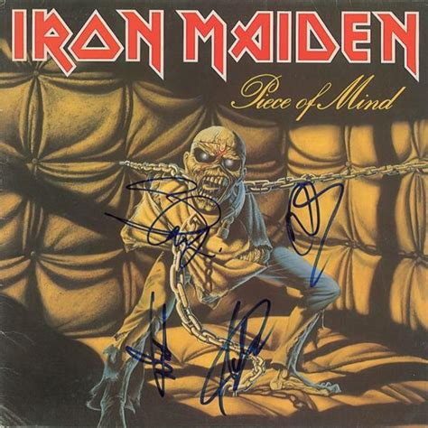 Cd Iron Maiden Of Mind signed iron maiden of mind vinyl record for sale