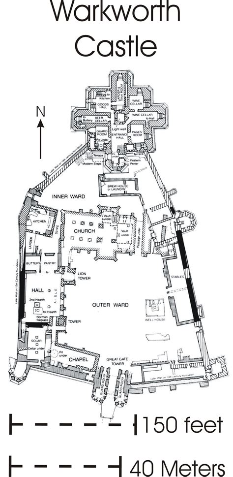 Cinderella Castle Floor Plan file warkworth castle map jpg wikipedia