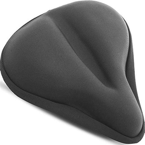 most comfortable cing pad large exercise bike gel seat cushion wide soft pad