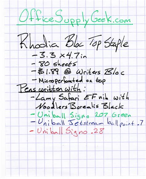 how to write an engineering paper rhodia bloc top staple graph paper notebook review
