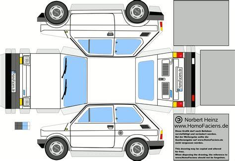 Auto Basteln Papier by Fiat 126 Papercraft Homofaciens Downloads For
