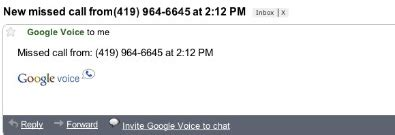 you can get email notifications of google voice missed calls