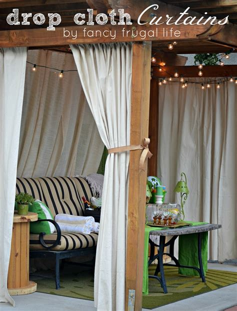 cabana curtains top 10 clever diy patio privacy screen ideas