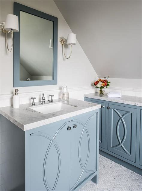blue bathroom vanity cabinet blue washstand with eclipse cabinet doors transitional