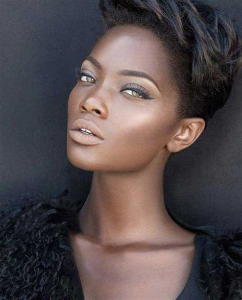 short hairstyles for ebony light skin fat face 20 best short hairstyles for black women short