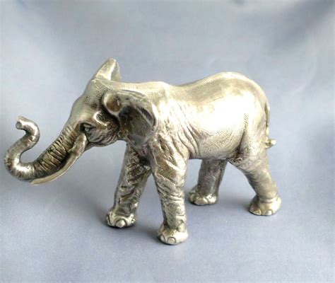 elephant figurines antique sterling silver 925 elephant big figurine