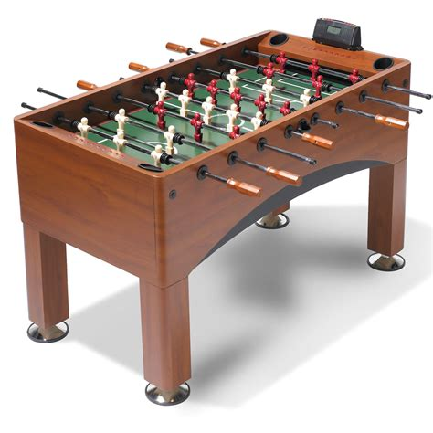 light up foosball table the handicapping foosball table hammacher schlemmer