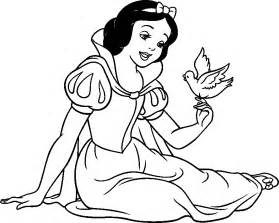 snow white coloring pages from disney princess - Snow White Coloring Page