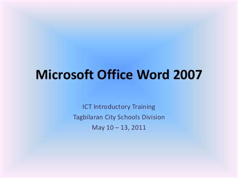 office definition 01 microsoft office word 2007 introduction and parts
